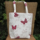 Red butterflies tote bag