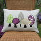 Spring trees rectangular cushion