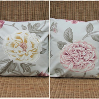 SALE - Reversible flower cushion