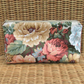 Cosmetic bag,make up bag - Flowers in peachy shades