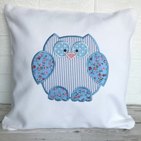 SALE, Pastel shabby chic owl cushion