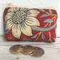 Small purse, coin purse in red William Morris Strawberry Thief fabric