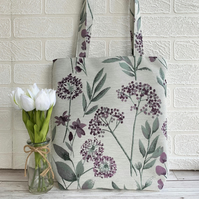 Purple flowers tote bag with purple alliums