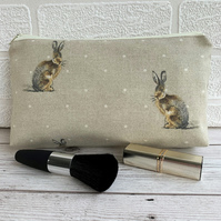 Hare make up bag, cosmetic bag or pencil case