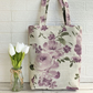 Purple and lilac floral tote bag