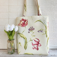 Tulips and Spring flowers tote bag