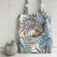 Exotic Bird of Paradise and tropical plants tote bag