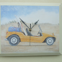 Wall Clock Beach Buggy Dune Buggy Rustic Style Beach Clock Surfing Shabby Chic