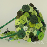 Green Blossom Button Fascinator