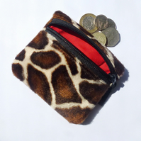 Giraffe fur coin purse