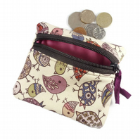 Bird coin purse, card pouch