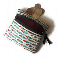 Fish coin purse,zipped card pouch