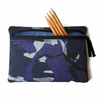 pencil case Blue camo