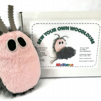 Woodlouse sewing kit, toy craft kit