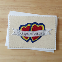 Congatulations card, anniversary, wedding, engagement card