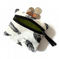 Feather coin purse, change purse