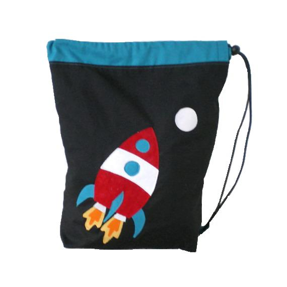 Black Rocket  PE bag