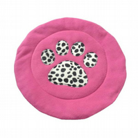 Pink & Dalmation  padded Cat Mat (or small dog mat)