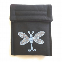 Canvas dragonfly Kindle case  (Blue)