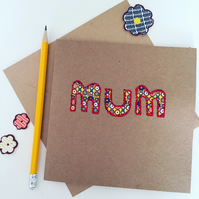 Daisy, Daisy Floral Fabric Mother's Day Card