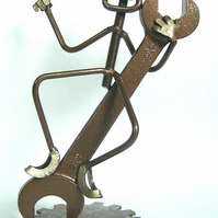 "Spanner Circus Sculpture ""Easy Going Eric"" open Ended Spanner mechanic DIY"