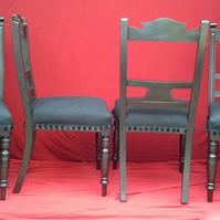 Set of four black Dining chairs