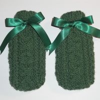 Hand Warmer set with Hand Knitted Covers.