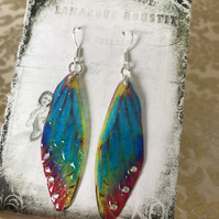 Turquoise Gypsy Spirit Fairy Wing Earrings