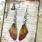 Autumn Star Sparkling Fairy Wings Sterling Silver Earrings