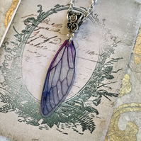 Purple Fairy Wing Necklace