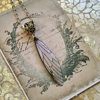 Pretty Cicada Style Fairy Wing Necklace