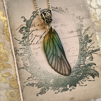 Sparkling Pastel Fairy Wing Necklace