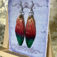 Enchanting Sparkling Fairy Wing Sterling Silver Earrings