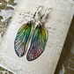 Iridescent Pastel Sterling Silver Fairy Wing Earrings