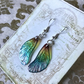 Iridescent Dainty Sparkling Fairy Wings Sterling Silver Earrings