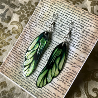 Peridot Fairy Wing Sterling Silver Earrings