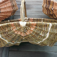 Trug Willow Basket, Wicker Gardening Double Basket