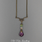 Suffragette Inspired Antique Gold Necklace