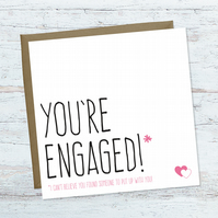 You're engaged! Funny engagement card