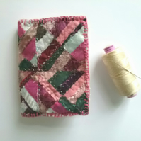 Handmade sewing needlecase patchwork embroidered