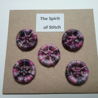20mm variegated purple and pink dorset buttons (pack of 5)