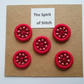 Pack of 5 handmade beaded Dorset buttons 20mm