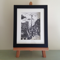 Framed Print of Whitby Abbey & 199 Steps