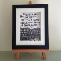 Framed Print of Whitby Poem and Abbey