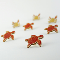 Ocean Turtle Pin Badge