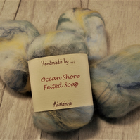 Felted Soap, Vegetarian Friendly, Unique Gift - Ocean Shore