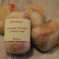 Felted Soap, Vegetarian Friendly, Unique Gift - Summer Meadow