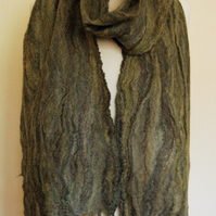 Cobweb Felted Merino Wool and Silk Scarf - Monsal Valley