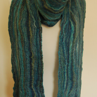 Cobweb Felted Merino Wool and Silk Scarf - Lathkill Dale
