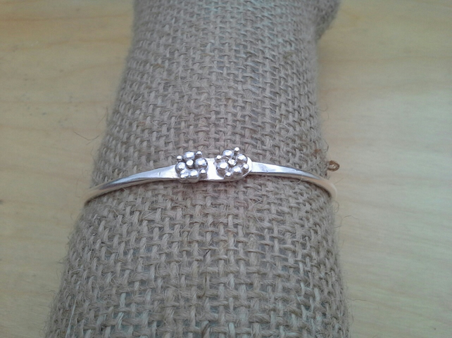Handmade Riveted Sterling Silver Bangle